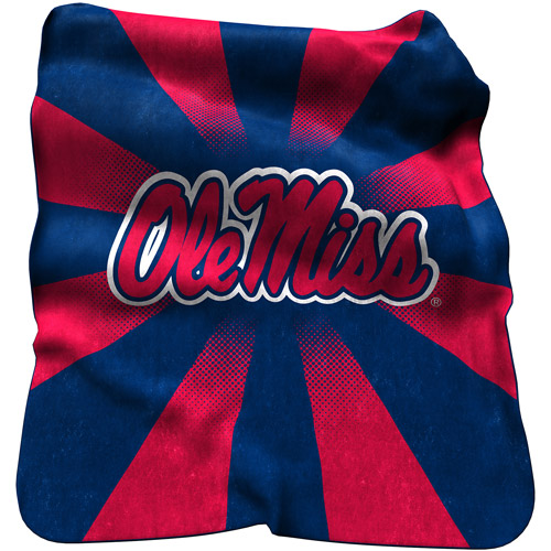 Logo Chair NCAA Ole Miss Raschel Throw
