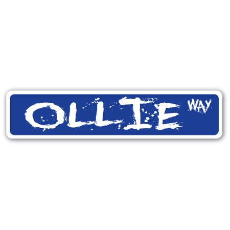 OLLIE Aluminum Street Sign skate skateboarding skates ramp skate | Indoor/Outdoor |  18