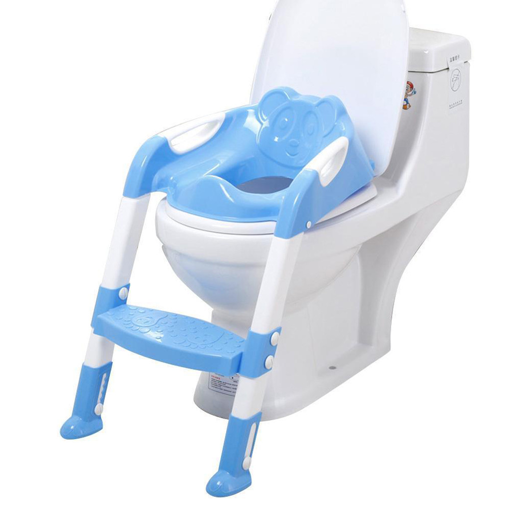 Outtop Baby Child Potty Toilet Trainer Seat Step Stool Ladder Adjustable Training Chair