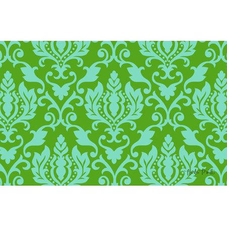 Manual Woodworkers & Weavers Francie Damask Green Area Rug