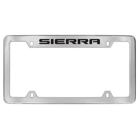 Gmc Sierra Chrome Plated Metal Top Engraved License Plate Frame Holder