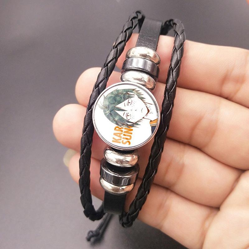 Bracelet Anime Characters Printing Stainless Steel Silicone Strap Bracelet Unisex Gift for Anime Fans Salemor Haikyuu! Tobio Kageyama