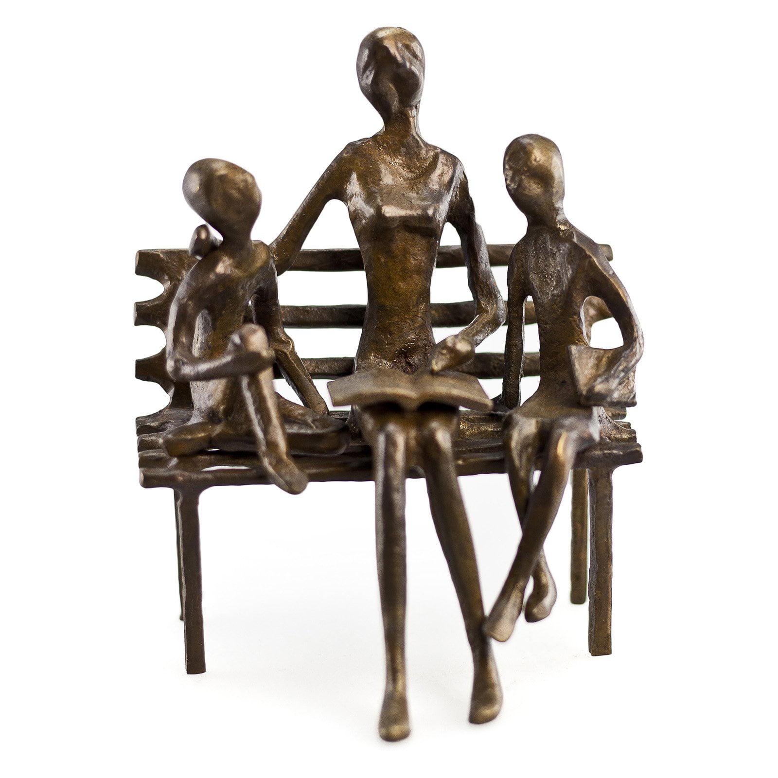 Danya B Mother Reading to Children Sculpture