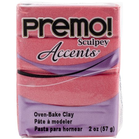 - Premo Sculpey Accents Polymer Clay 2oz-Sunset Pearl