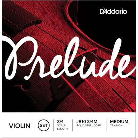 D'Addario Prelude Violin String Set, 3/4 Scale, Medium Tension ()