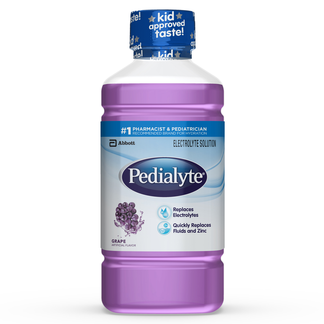 Pedialyte Electrolyte Solution, Electrolyte Drink, Grape, Liquid, 1-L