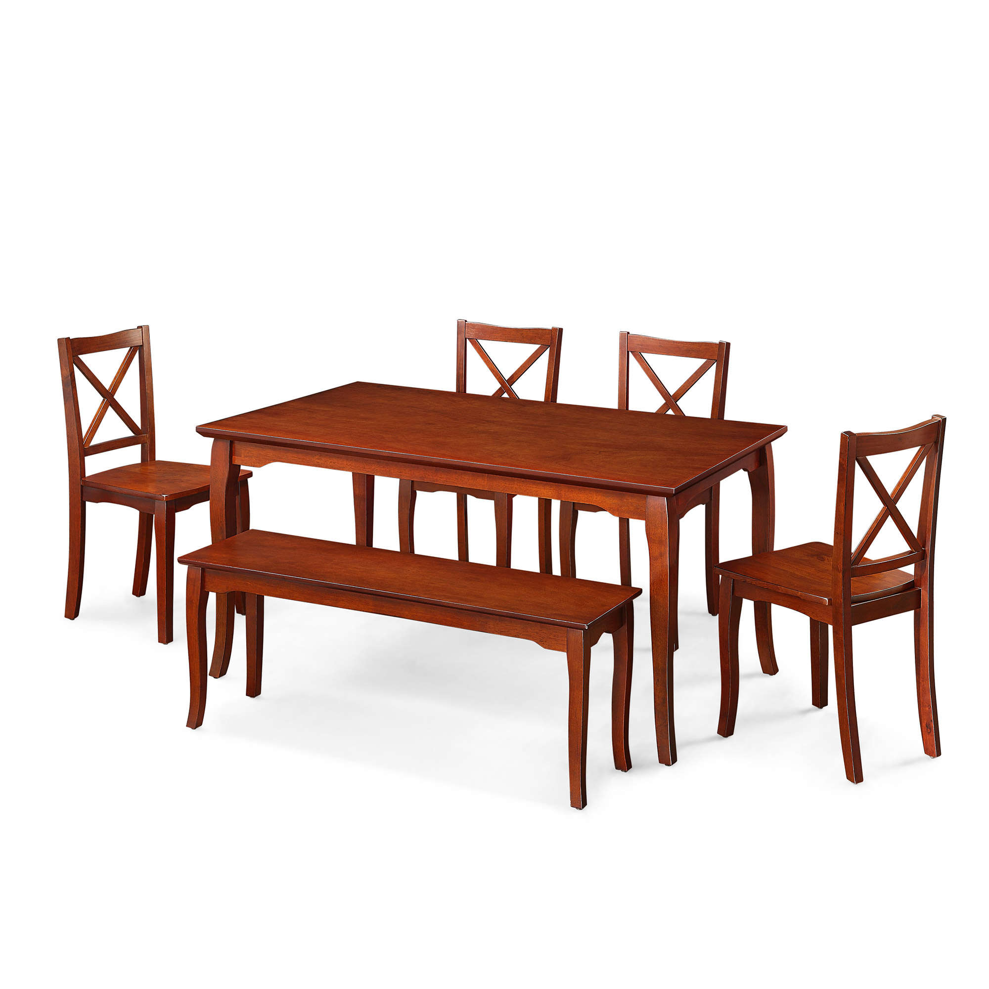 Nice Better Homes and Gardens Ashwood Road Piece Dining Set Brown Cherry Walmart