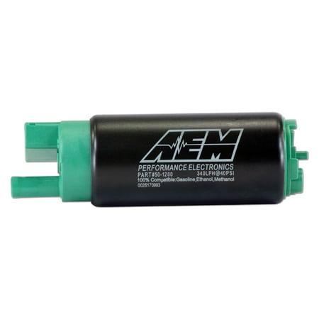 (AEM PERFORMANCE ELECTRONICS 50-1200 320LPH E85 HIGH FLOW IN-TANK FUEL PUMP(OFFSET INLET, INLINE)320LPH@43PSI. INCL U)