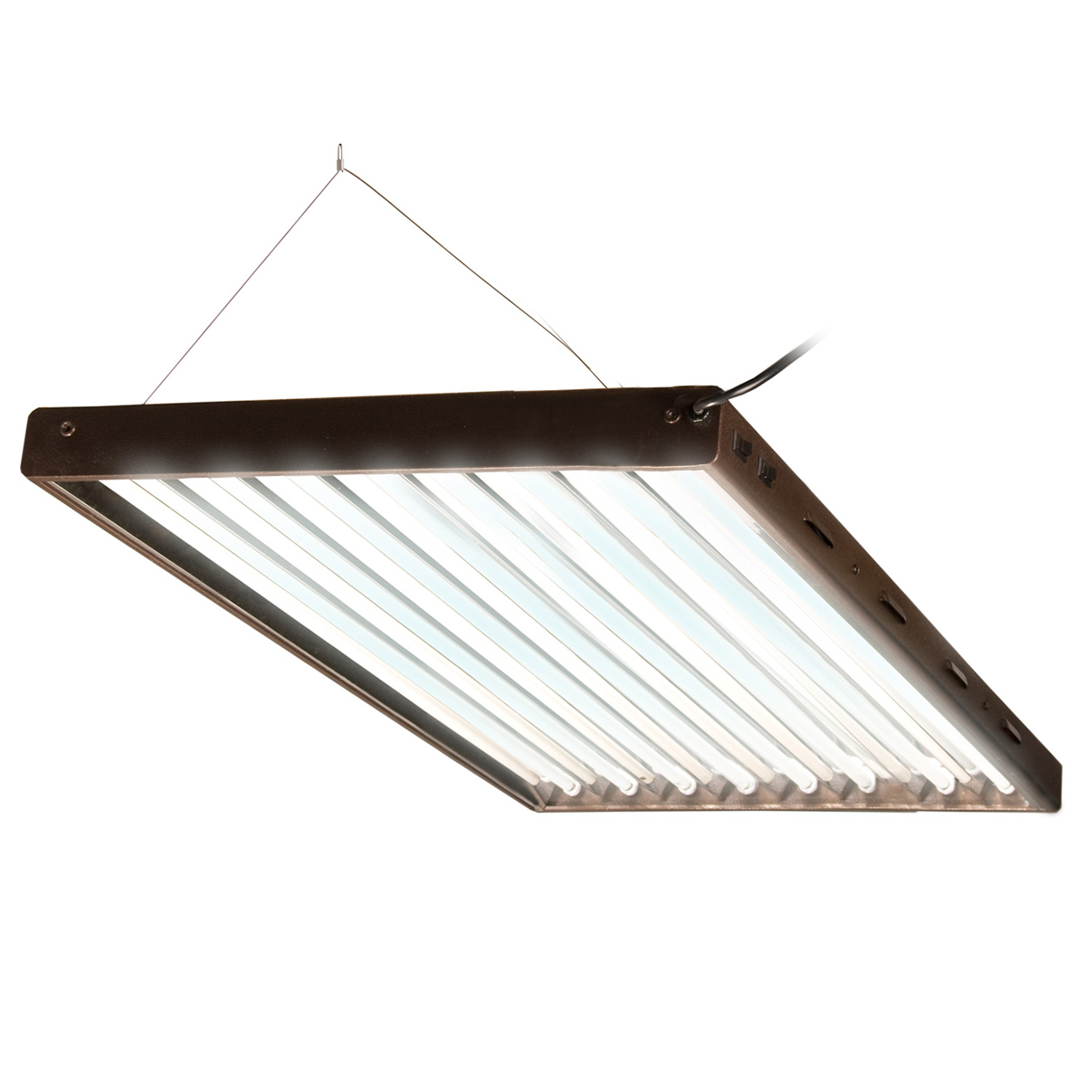 Agrobrite Designer T5 432W 4' 8-Tube Daisy Chainable Grow Light Fixture + Lamps