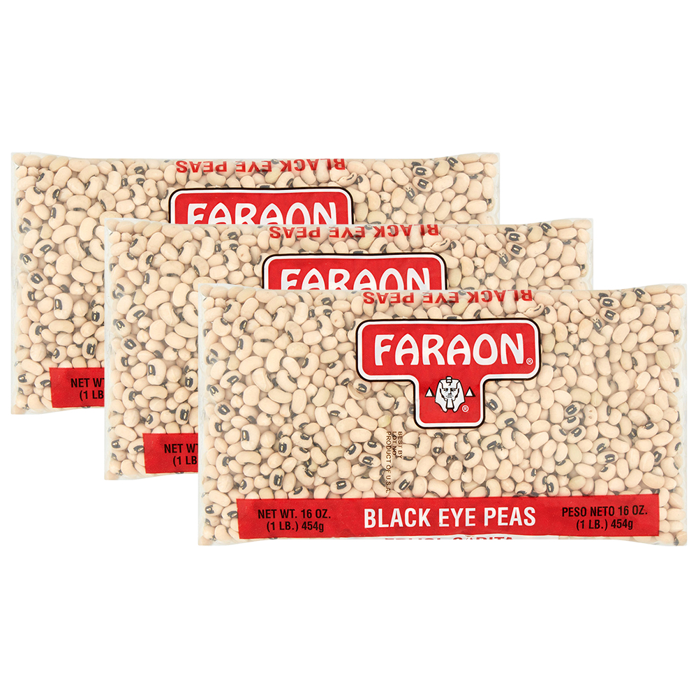 Faraon Black Eye Peas 16 oz (3 Packs)
