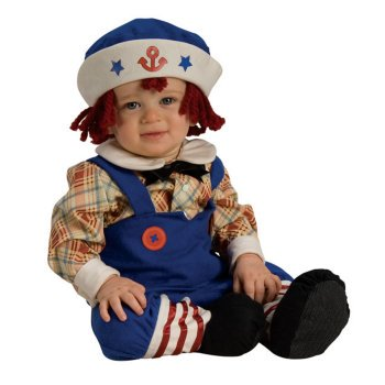 Ragamuffin Sailor Costume - Yarn Hair  INFANT 6-12 mo