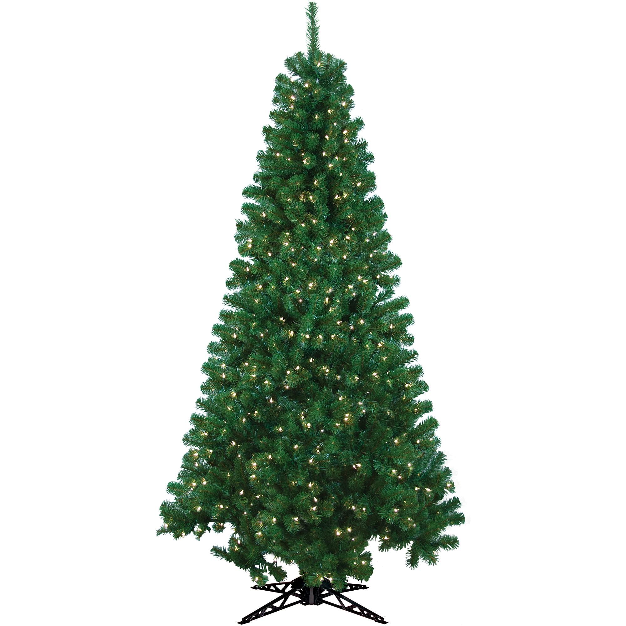General Foam Plastics Corp Pre - Lit 6.5' Rockport Artificial Christmas Tree, 300 Clear Lights
