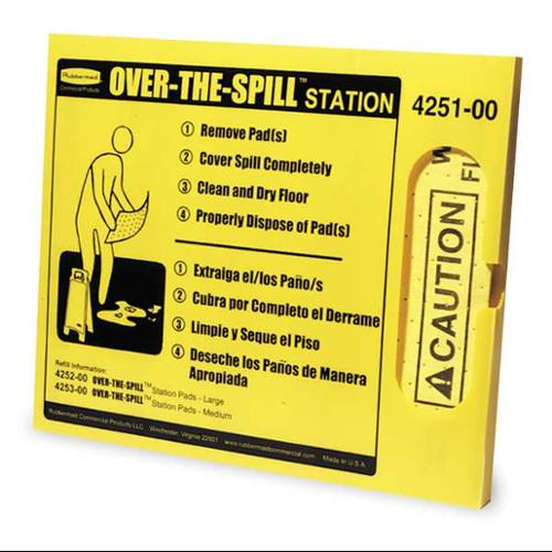 Over-the-Spill Station Kit, Rubbermaid, FG425100YEL