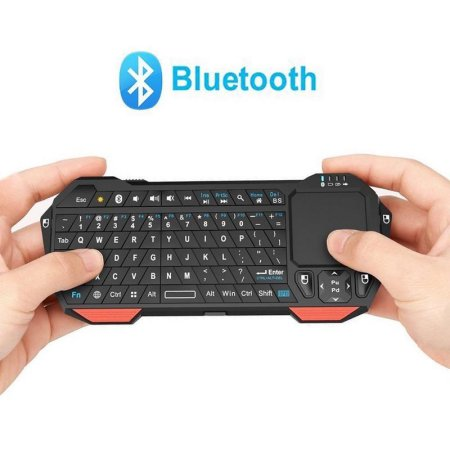 Mini blueto oth Keyboard, Jelly Comb LED Backlit Rechargab le Handheld Wireless Mini Keyboard with Mouse Touchpad for Android / Windows tabl et Smartphone
