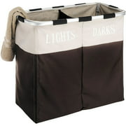 Whitmor Easycare Double Laundry Hamper, Espresso