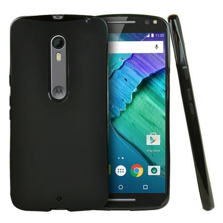 sale retailer 3296f cdb8e Motorola Moto X Pure Edition Case, [Black] **ENHANCED AND REFINED** Slim &  Flexible Anti-shock Crystal Silicone Protective TPU Gel Skin Case Cover