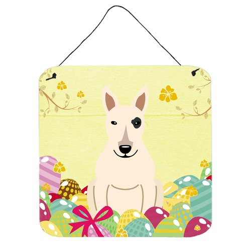 The Holiday Aisle Easter Eggs Bull Terrier Aluminum Wall D cor
