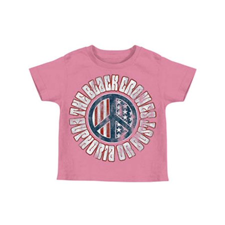 Black Crowes Boys' Peace Childrens T-shirt Pink