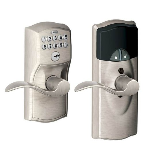 Schlage Connected Keypad Accent Lever with Camelot Trim