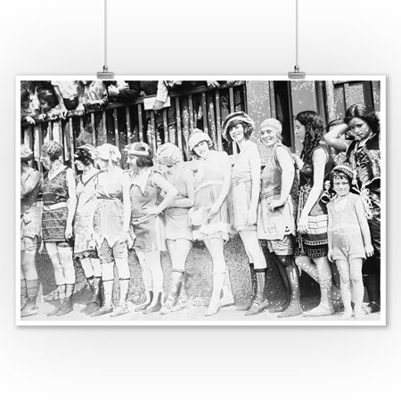 Women and Girl in Bathing Beauty Contest Photograph (9x12 Art Print, Wall Decor Travel Poster) - Halloween Photo Contests 2017
