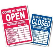 SIGN KIT BUSINESS HOURS 10.5X14.5 DOUBLE SIDED