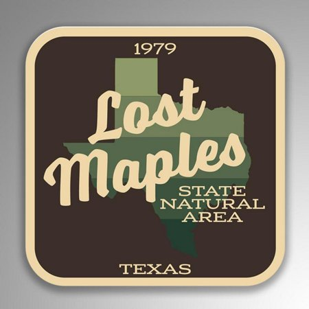 Lost Maples State Natural Area Decal Sticker | 4-Inches By 4-Inches | Vinyl Sticker | UV Protective Laminate | SP138