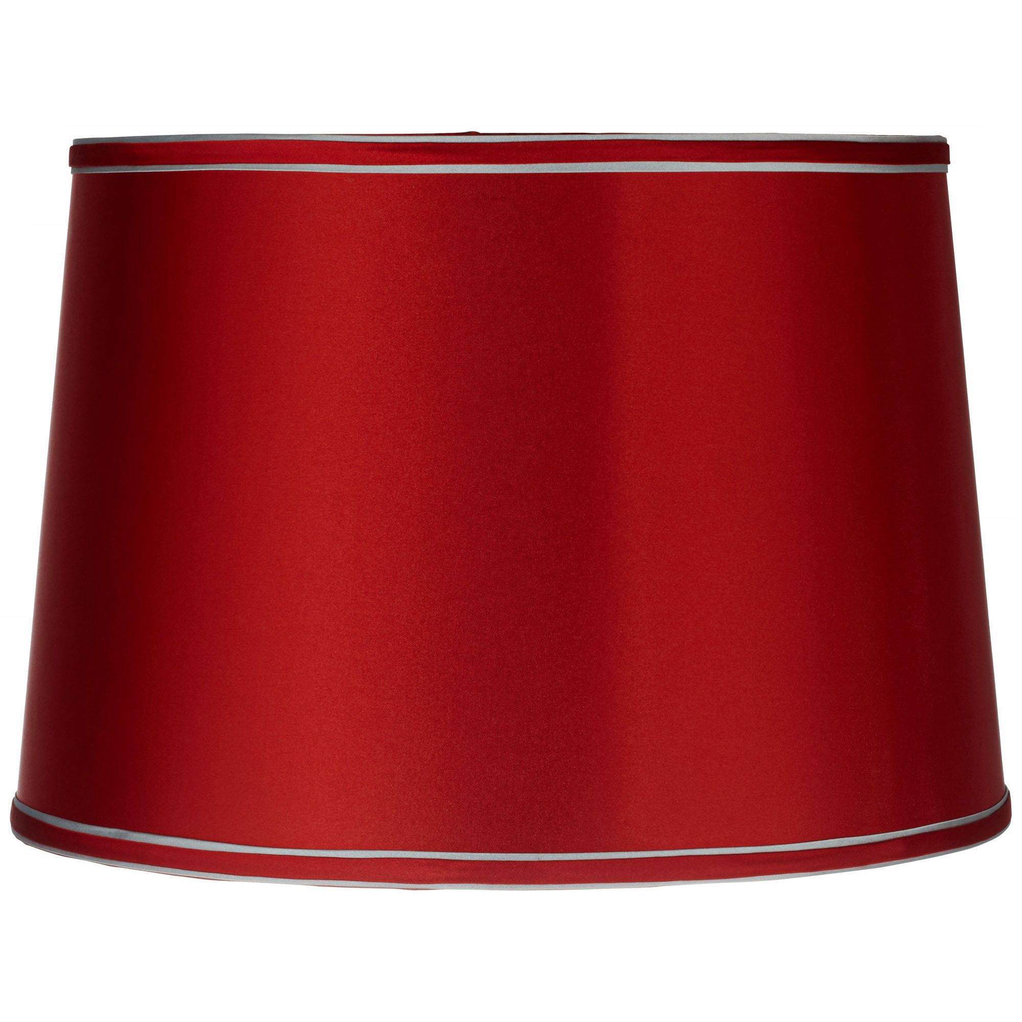 Brentwood Sydnee Satin Red Drum Lamp Shade 14x16x11 (Spider)