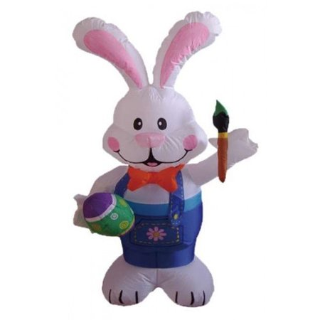 BZB Goods Easter Inflatable Rabbit Holding Color Pen Decoration - Easter Goods