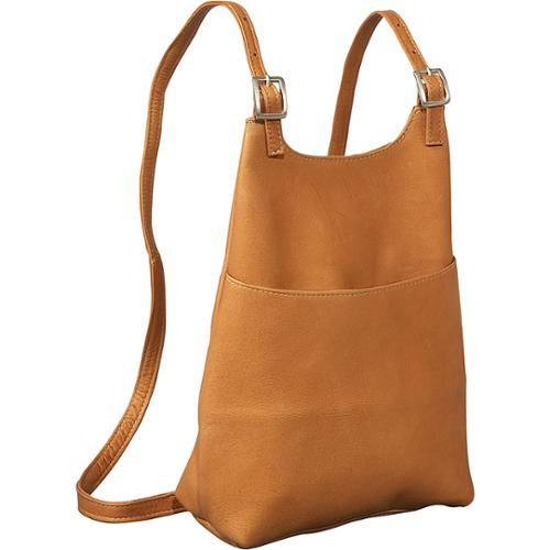 LeDonne Leather Women's Slim Sling Backpack Tan