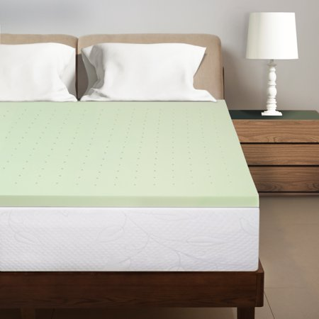 Best Price Mattress 1.5 Inch Green Tea Infused Memory Foam Bed Topper Cooling Mattress
