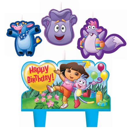 Dora the Explorer Mini Molded Cake Candles (4pc) (Mini Molded Cake Candles)