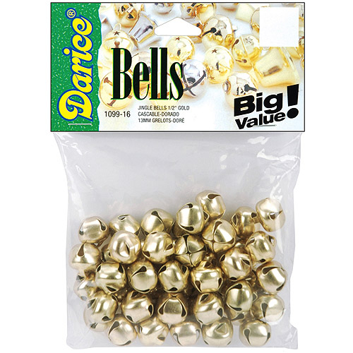 "Jingle Bells, 0.5"", 48/Pkg"