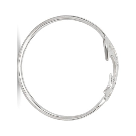 Sterling Silver Polished Star & Moon Ring - image 1 of 3