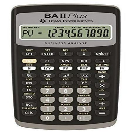 Texbaiiplus   Texas Instruments Ba Ii Plus Adv  Financial Calculator