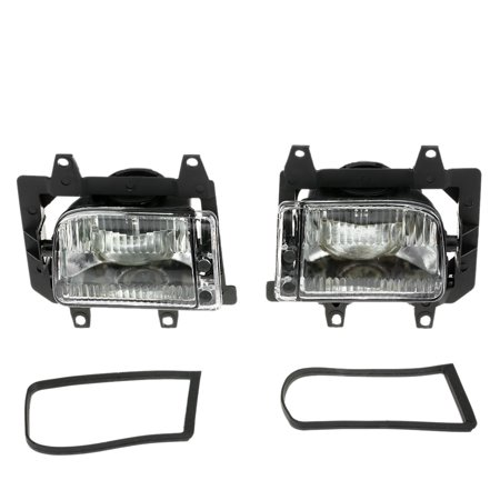 Pair of Left & Right Front Fog Light Transparent Plastic Lens Kit for BMW E30 3-Series 1985-1993 Bmw 318i Fog Light