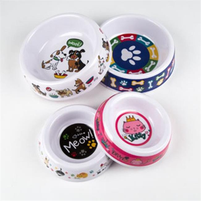 DDI 2324900 Melamine Pet Bowl, Multi Color - Case of 24 - 24 Per Pack - image 1 of 1