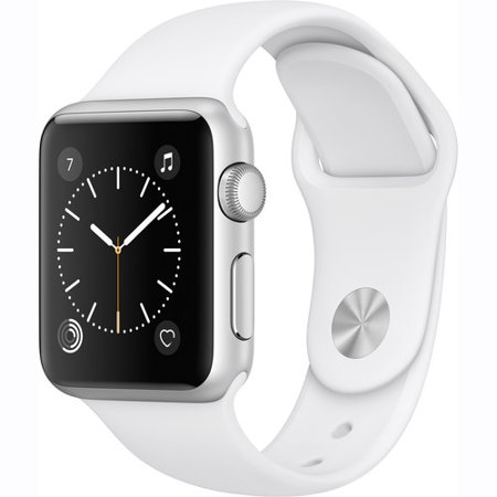 Refurbished Apple Watch Gen 2 Series 1 38mm Silver Aluminum - White Sport Band MNNG2LL/A