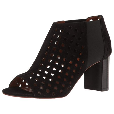 Aquatalia By Marvin K. Women's Shari Perforated Suede Ankle, Black, Size 9.5 Aquatalia By Marvin K Sneakers