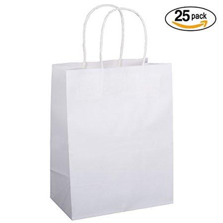 BagDream 25PCS Shopping Bag 8x4.75x10.5 , Cub, Paper Bags, Gift Bags, Kraft Bags, Retail Bags, White Paper Bags with Handles BagDream 25PCS Shopping Bag 8x4.75x10.5 , Cub, Paper Bags, Gift Bags, Kraft Bags, Retail Bags, White Paper Bags with Handles