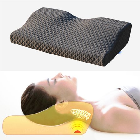 Meigar Contoured Memory Foam Pillow Cervical Bed Pillow , Best Sleep Innovations Cervical Pillows for Neck Pain & Shoulder Pain Relief,Micro-Vented Soft Neck Support
