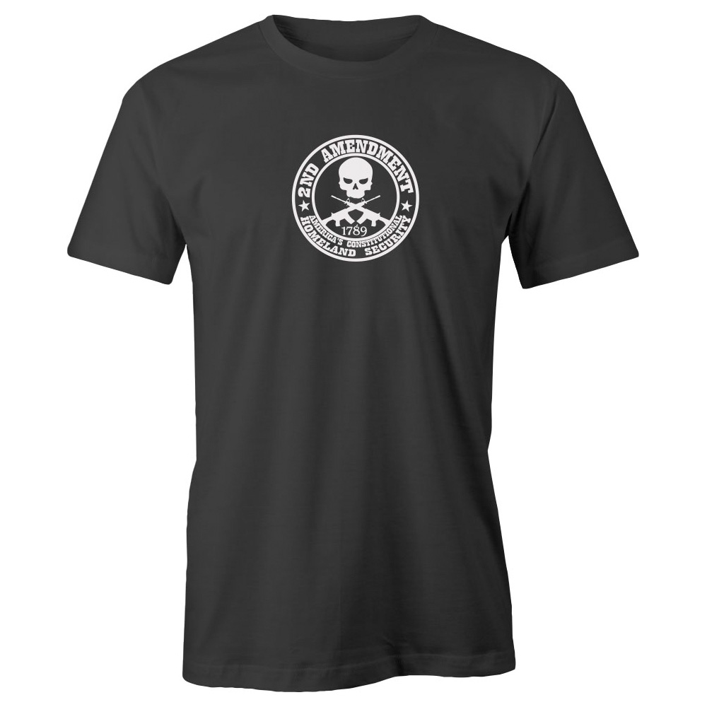 Grab A Smile 2nd Amendment Homeland Security Adult Short Sleeve Cotton T-Shirt