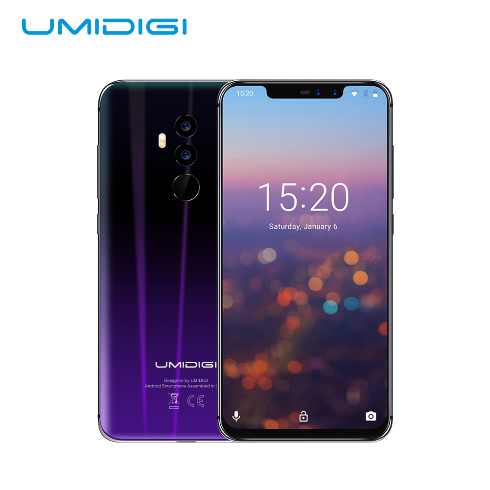 """Straight Talk Unlocked Phones,Smartphone 6GB 64GB 6.2"""" FHD+Full Screen 4 Lens Android 8.1 3850mah Dual 4G NFC Face ID Cell Phone"""
