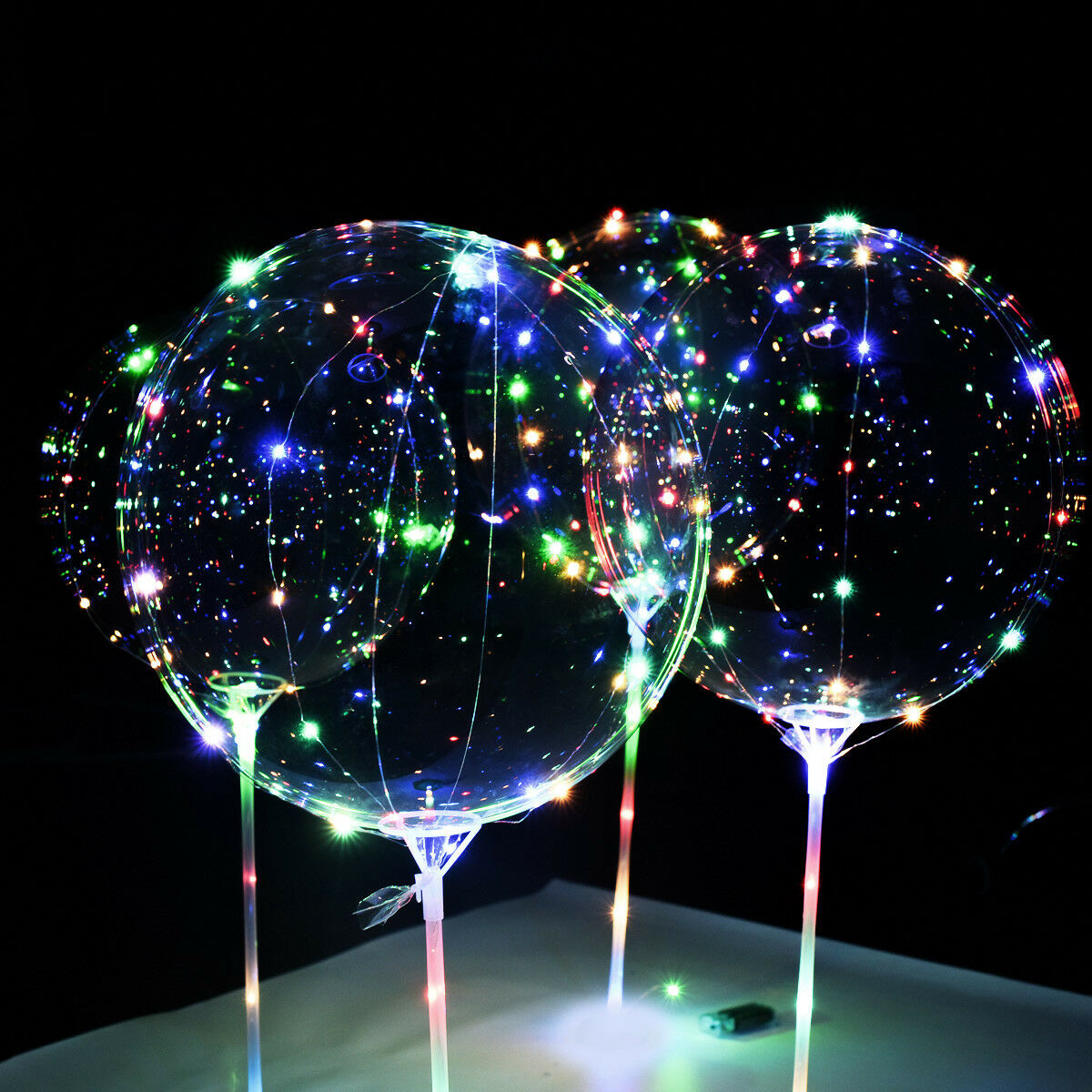 "2 Sets 20"" Luminous LED Fairy String Light Transparent ..."