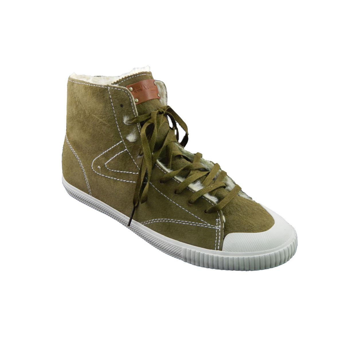 Tretorn Sofie Mid Vinter Womens Dark Olive Brow Sneakers by Tretorn