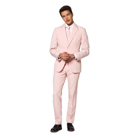 OppoSuits Men's Lush Blush Solid Color (Men's Opposuits El Muerto Suit)