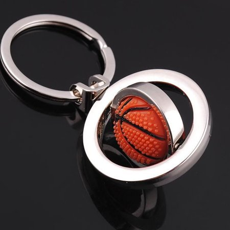 Fashion Creative Sports Keychain Hanging Accessary Rotatable Ball Pendant Key Ring Decoration -