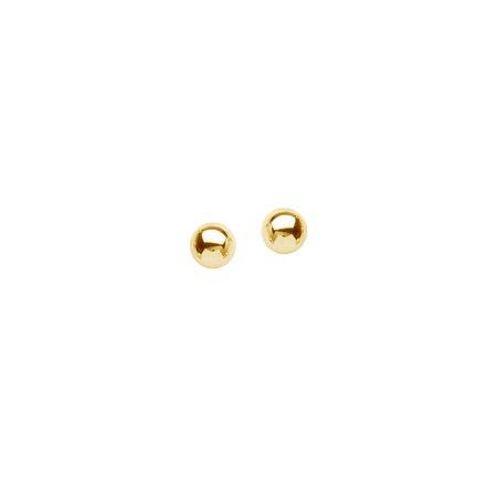 - 14k Yellow Gold 5mm Ball Stud Earrings - .2 Grams