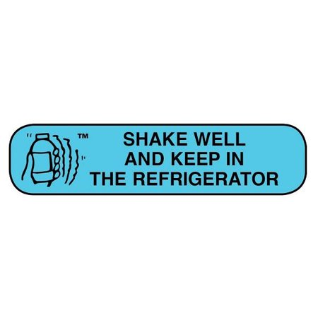 Apothecary Shake Well/Refrigerate Bottle Label, 1000ct 025715401409A448