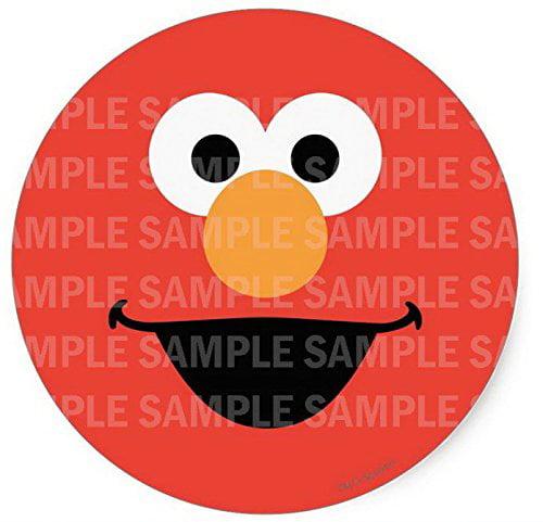 Sesame Street Elmo Face Birthday Edible Image Photo 8 Round Cake Topper Sheet Personalized Custom Customized Birthday Party Walmart Com