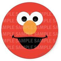 "Sesame Street Elmo Face Birthday Edible Image Photo 8"" Round Cake Topper Sheet Personalized Custom Customized Birthday Party"